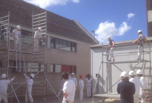 Projectwerk schilderwerk en decoratie: plafond CLW.