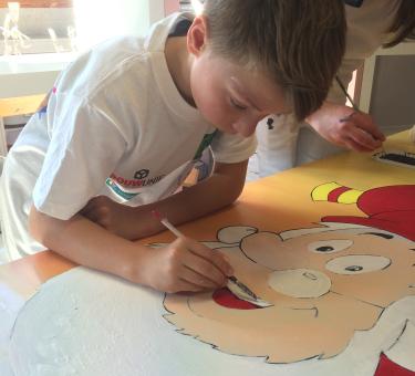 SOS schilder op school