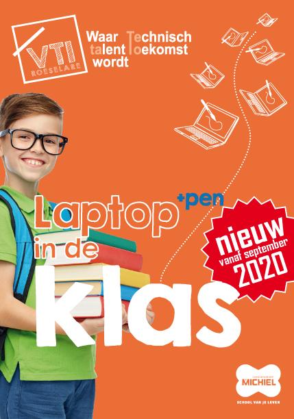 brochure laptop in de klas VTI Roeselare